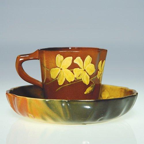"1116: Rookwood Cup & Saucer, Nourse, 1891, 2 1/4"""