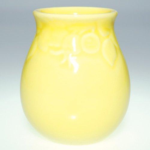 """1118: Rookwood yellow production vase, 1948, 4.25"""" 2122"""
