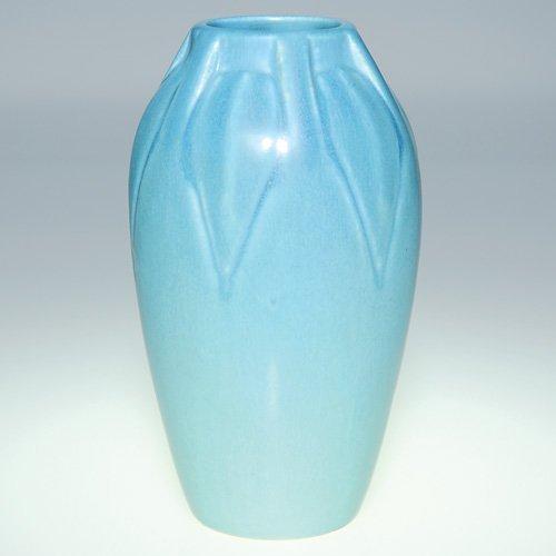"1122: Rookwood blue mat production vase, 6 3/4"", 1920"