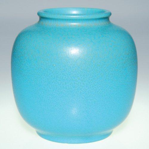 """1123: Rookwood red/blue mottled vase, 1937, 5 1/8"""""""