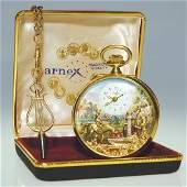1616: Arnex Swiss automaton pocket watch, 17J,