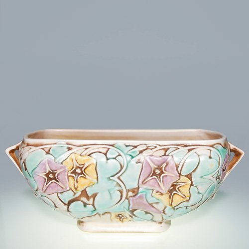 24: Roseville Morning Glory console bowl, 271 10