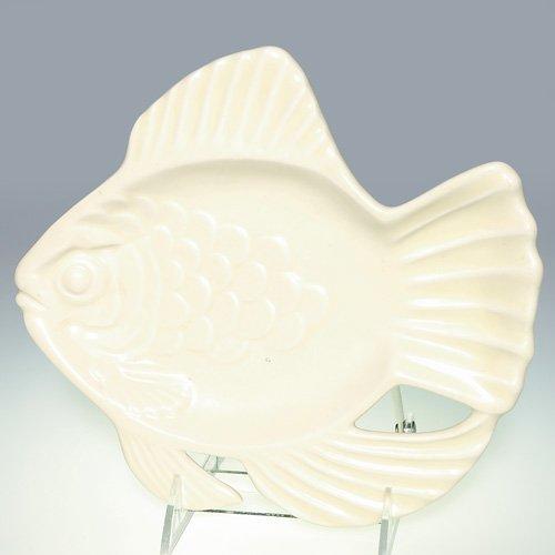 """1007: Rookwood 9"""" Fish tray, Ivory Mat, #6387"""
