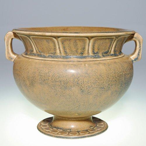 "1010: Rookwood 5 3/4"" urn, 1921, blue & tan mat"