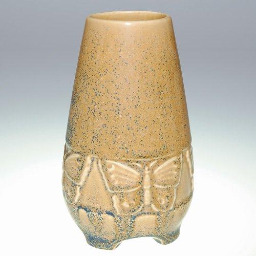 "1015: Rookwood 5 1/2"" production vase, butterflies, blu"