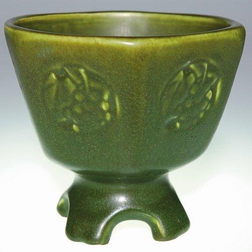 "1016: Rookwood 4 5/8"" chalice shape, mat green"
