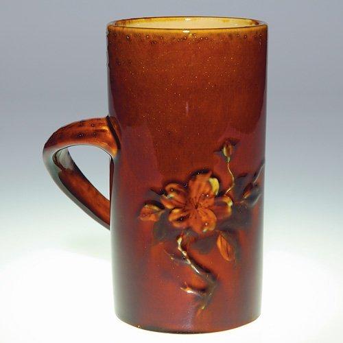 """1020: Rookwood 5 1/2"""" Standard mug, floral"""