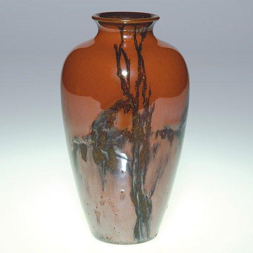 """1021: Rookwood trial vase, Goldstone, 5 3/4"""""""