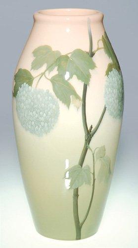 """1041: Rookwood Iris vase, floral, Schmidt, 1907, 12.75"""""""