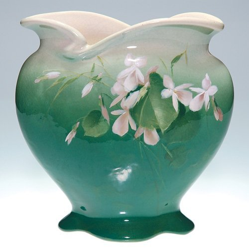 "8: Roseville Rozane Royal 8 5/8"" vase, Imlay, floral"
