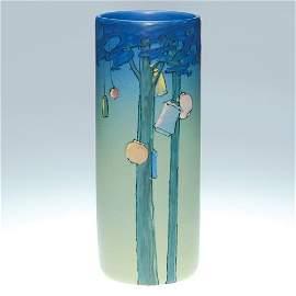 """123: Weller Hudson scenic 8.5"""", MT, lanterns, trees"""