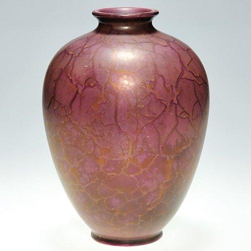 """5: Roseville Pauleo 8 1/2"""" experimental vase"""