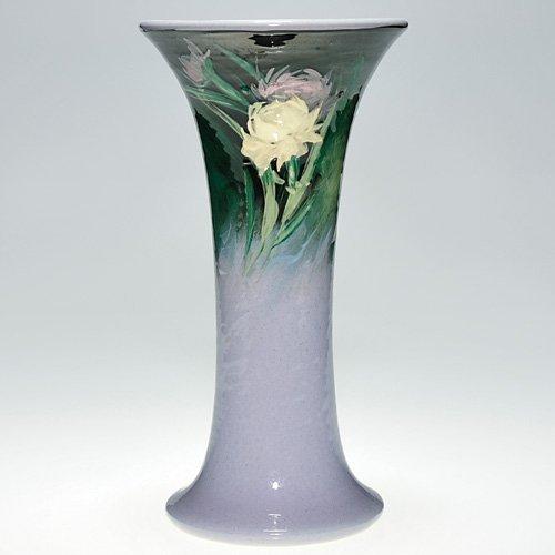 8: Weller Late Eocean trumpet vase, carnations