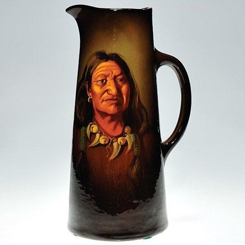 "9: Weller Louwelsa tankard, Indian, Burgess, 12 5/8"""
