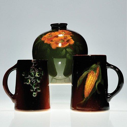 12: Weller Louwelsa vase, mug, Floretta ug