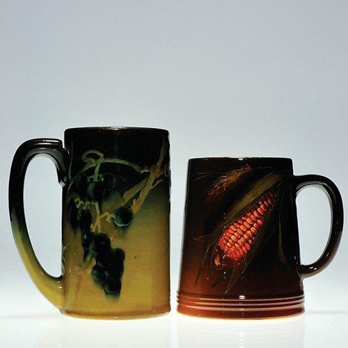 "802: 2 Rookwood Standard Glaze mugs, 5 1/2"""