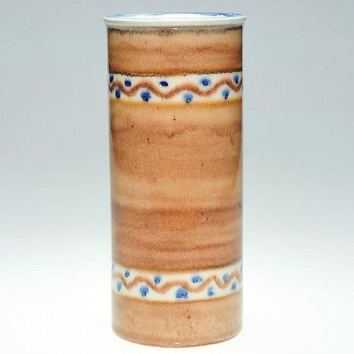 """803: Rookwood cylinder vase, Jensen, 7 1/4"""""""