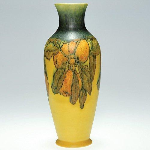 "810: Rookwood mat vase, Jones, 1924, 9 5/8"""