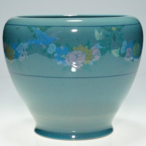 811: Rookwood blue tinted floral, birds, butterflies
