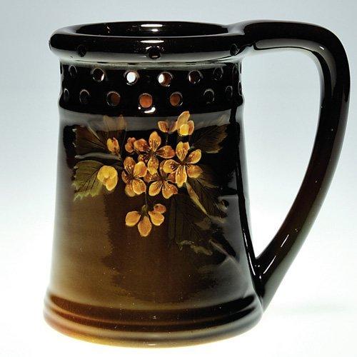 "813: Rookwood Standard Glaze 4.75"" puzzle mug, Hickman,"