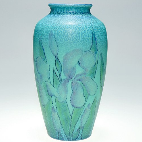 "821: Rookwood Mat floral, Jensen, 1929, 10 1/2"""