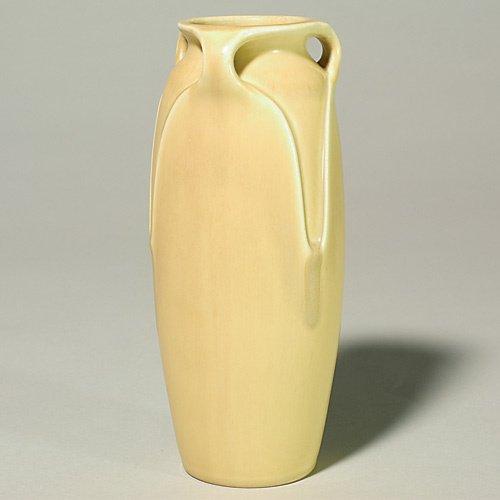 """1018: Rookwood production vase, yellow, 8 5/8"""", 1924"""