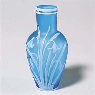 419: English cameo vase, sgnd T. Webb & Sons,