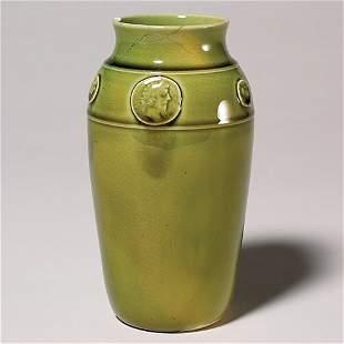 """Rookwood high glaze production vase, 1884, 6 1/2"""","""