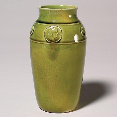 """13: Rookwood high glaze production vase, 1884, 6 1/2"""","""