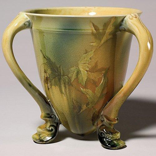 "15: Rookwood Standard  3 handled cup, 1890,  73/4"", KS,"