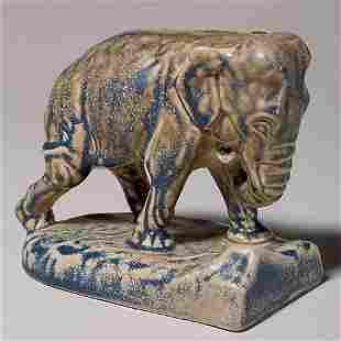 "Rookwood single elephant bookend, 1922, 47/8"",blue/"