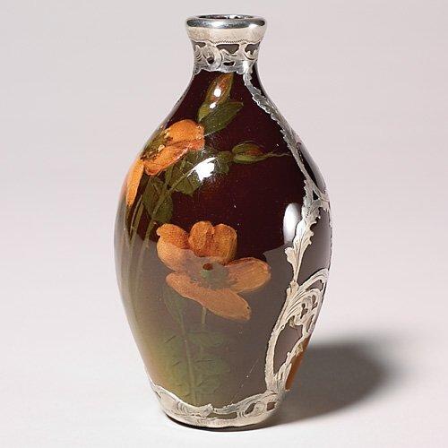 19: Rookwood Standard floral, Silver, Fechheimer, crack