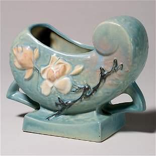 "Roseville Magnolia planter, blue, 183-6"""