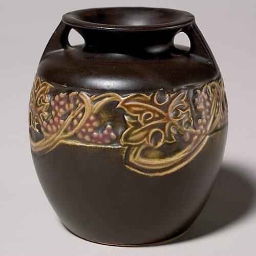 205: Roseville Rosecraft Vintage vase, bruise by one ha