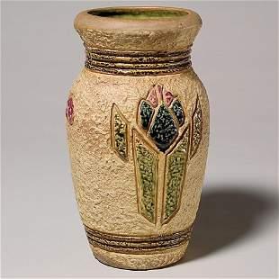 """Roseville Mostique vase, shape 18-10"""""""