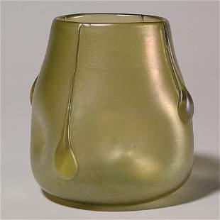 """Loetz vase with applied teardrops, 4 7/8"""""""