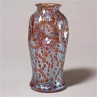 """Loetz vase, Diaspora, gold, 9 1/2"""""""