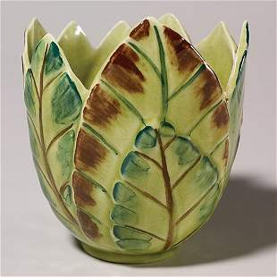 Rookwood Junior Decorator vase, signed MP,1945, 6