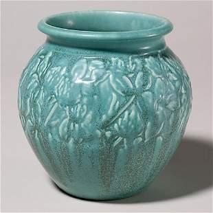 Rookwood blue mat production vase, 1928, 6029, 6