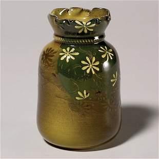 Rookwood Standard vase, floral, Sprague, no lid,