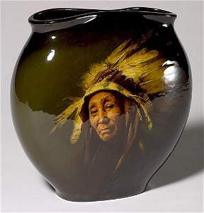 1460:  Rookwood Standard pillow vase, Indian, Young, 19