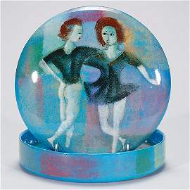 235: Pillin round box,  pretty girls, 2 x 8 inches