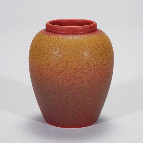 805: Rookwood 3 3/4 tea jar base, 1911, mat red w/gold;