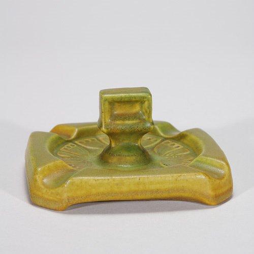 815: Rookwood ashtray with matchbox holder, 1910, 2 1/2