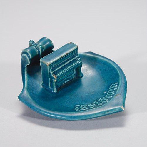 818: Rookwood Baldwin Piano ashtray, 2, 1914, chips