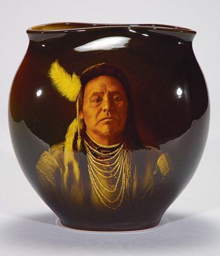 "1095: Rookwood Standard Chief Joseph, Daly, 11 1/8"""