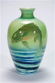 1120: Rookwood Sea Green, fish, Wareham, 1898, 11 3/8