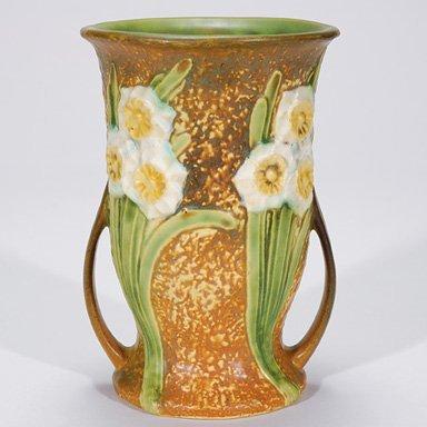 """5: Roseville Jonquil vase, shape 541-7"""""""