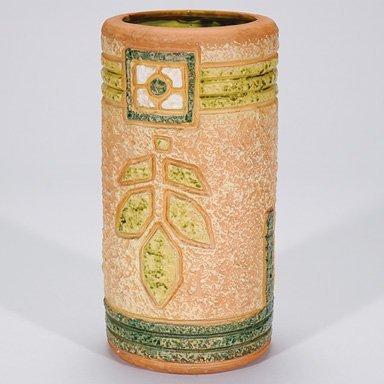 """22: Roseville Mostique vase, 10"""""""