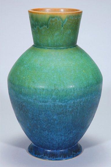 "62: Rare Roseville Artcraft floor vase, 16 1/4"""